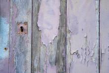 Old Wooden Door With Lock