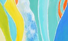 Boho Kaleidoscope Abstract Seamless Pattern. Pink Red Ethnic Texture. Watercolor Bohemian Moroccan Print. Swimwear Watercolour Abstract Tie Dye Interior Print. Brushstroke Hand Drawn Backdrop