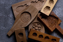 Rustic Wooden Cookie Molds In ...