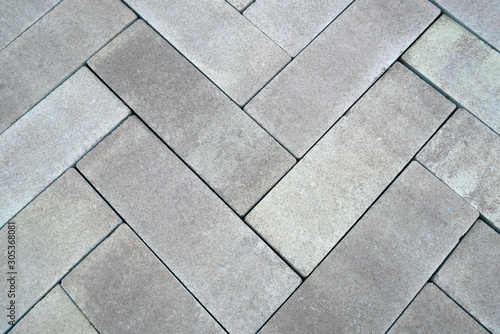 Fotomural colored paving slabs by mosaic, closeup