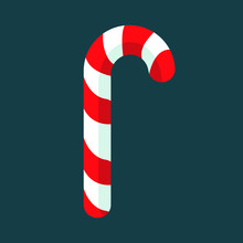 Candy Cane Christmas Candy Fla...