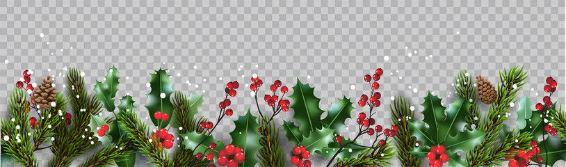 Isolated winter Christmas nature banner