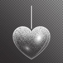 Festive Heart With Sparkles