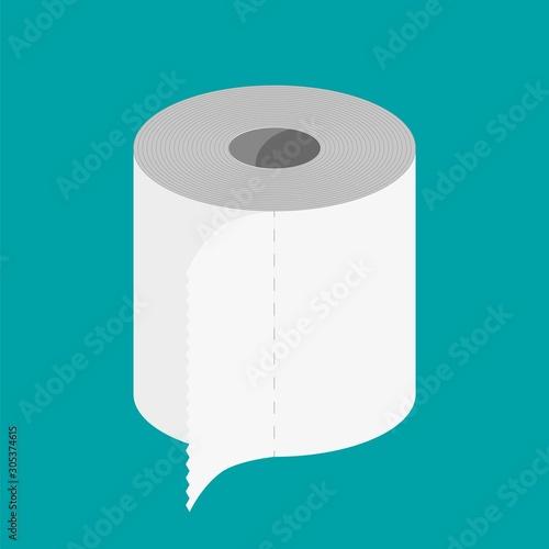 Fotografía White roll of toilet paper
