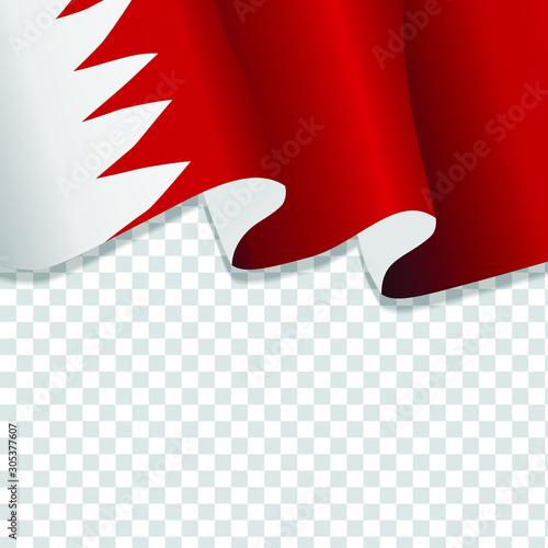 Waving flag of Bahrain Canvas Print