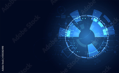 abstract technology ui futuristic concept hud interface hologram elements of dig Fototapet