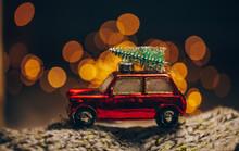 Christmas Background. Christmas Decoration. Decor. Bokeh. Lights. New Years.