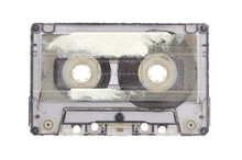 Old Audio Tape Compact Cassette Isolated