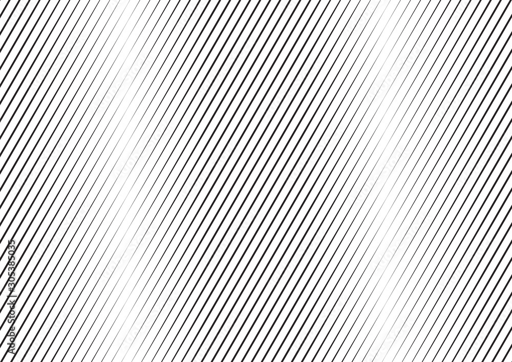 Fototapeta Abstract background with lines of variable thickness. Monochrome line pattern.  Vector modern pop art texture for poster, banner, sites, business cards, cover, postcard, design, labels, stickers.