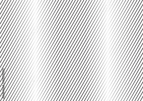 Spoed Fotobehang Pop Art Abstract background with lines of variable thickness. Monochrome line pattern. Vector modern pop art texture for poster, banner, sites, business cards, cover, postcard, design, labels, stickers.
