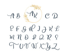 Handwritten Calligraphy Monogr...