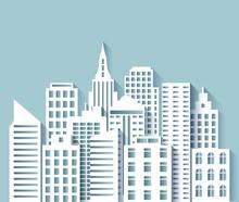 Paper City Skyline. 3d Urban O...