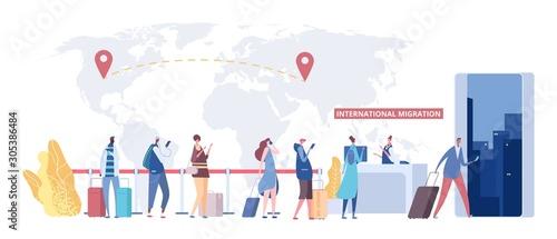 Fototapeta International migration concept