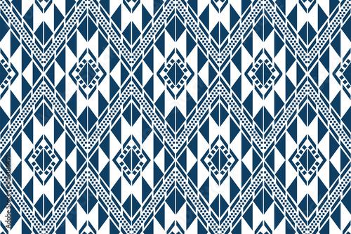 abstract, african, art, aztec, backdrop, background, batik, blue, boho, chevron, Canvas Print