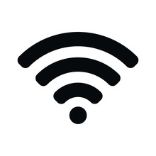 Wifi Signal Icon Wireless Symbol Connection. Web Network Connect Logo Sign. Vector Illustration Image. Isolated On White Background.