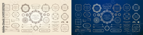 Foto 高級感のあるフレームデザイン カリグラフィー ゴージャス ラグジュアリー