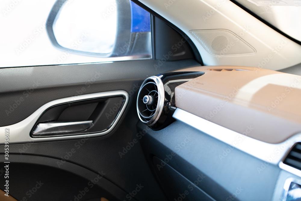 Fototapety, obrazy: Car interior details of car luxury.
