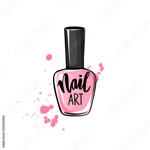 Fotografía Vector nail polish bottle