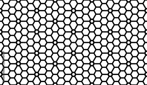 Türaufkleber Künstlich Flower geometric pattern. Seamless vector background. White and black ornament