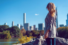 Blonde Woman At Central Park I...