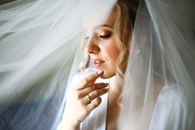 Portrait Of Beautiful Bride Wi...