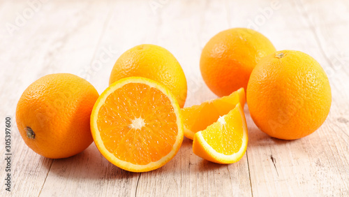 fresh orange and juicy slices