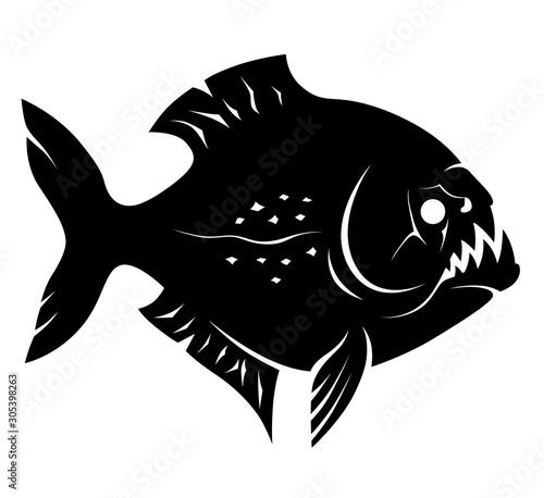 Obraz na plátně Piranha sign