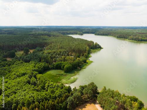 Fototapeta Jezioro wdzydze las kaszuby obraz
