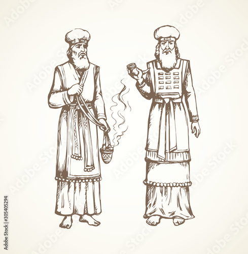 Fotomural High Priest. Vector drawing