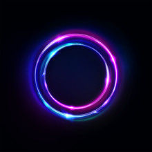 Circle Abstract Background, Gl...