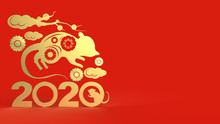 Chinese New Year 2020 3d Rende...
