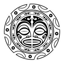 Tattoo Polynesian Mandal Shape Vector