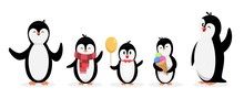 Happy Penguin Family. Penguins...