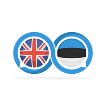 Illustrated Icons With English...