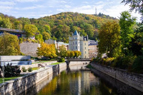 city views Karlovy Vary autumn Canvas Print