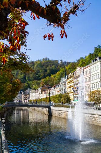 Fotografía city views Karlovy Vary autumn