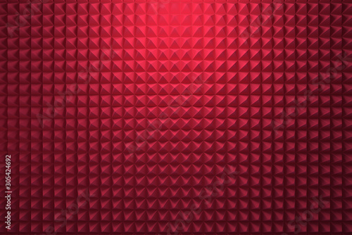 Red acoustic foam panel background Fototapet