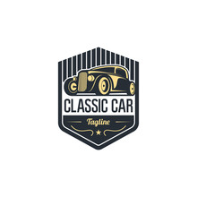 Classic Auto Car Logo Vector T...