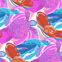 Seamless Pattern Of Graphic Sw...