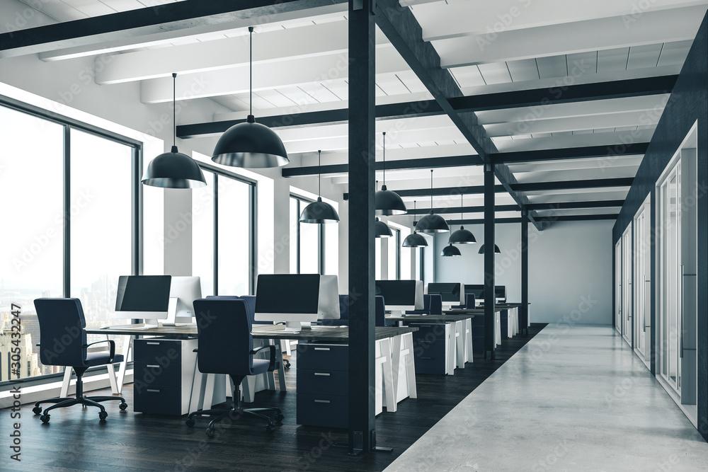Fototapeta Contemporary coworking office