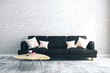 Modern Brick Living Room