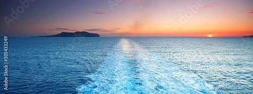 Blick übers Meer - Kreuzfahrt Fototapete