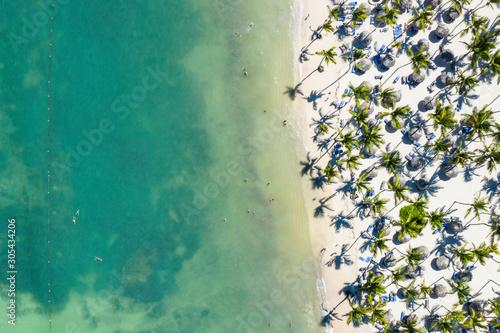 Fototapeta Aerial view of Punta Cana  obraz na płótnie