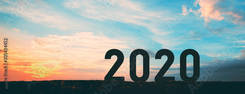 Obraz New year 2020 - fototapety do salonu