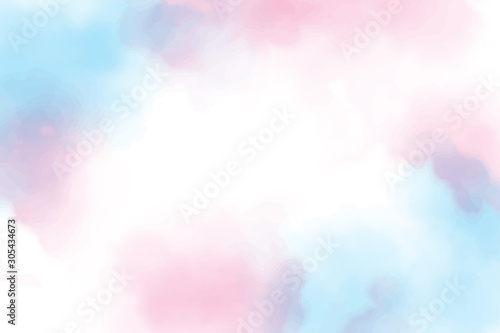 Stampa su Tela beautiful sweet cotton candy twilight sky watercolor background eps10 vectors il