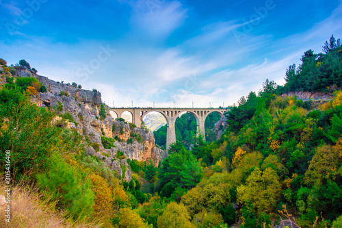 Varda Railway Bridge in Adana city of Turkey Wallpaper Mural