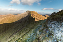 Pen Y Fan On A Winters Day In The Brecon Beacons National Park, Wales.
