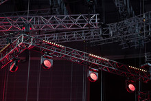 Light Device. Installation Of Equipment For Performances Or Concerts