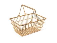 Golden Shopping Basket