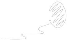 Easter Egg One Line Drawing, Vector Illustration